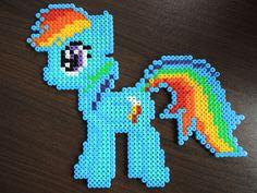 """My little Pony """"Rainbow Dash"""" aus Bügelperlen  Perler Beads by Baumberger Entdecker"""