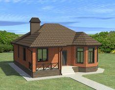 57 Trendy house modern exterior dream homes building Mini House Plans, Porch House Plans, Simple House Plans, New House Plans, Modern House Plans, Modern Bungalow House, Bungalow House Plans, Single Floor House Design, Small House Design