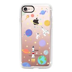 Space rocket for classic snap case - iPhone 7 Case, iPhone 7 Plus... (400 MAD) ❤ liked on Polyvore featuring accessories, tech accessories, iphone case, iphone cover case, iphone cases, apple iphone case and slim iphone case