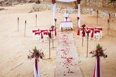 Red & White decoration - Adventure weddings at Las Caletas, Puerto Vallarta, Mexico Vallarta Mexico, Puerto Vallarta, Chuppah, Destination Wedding, Bamboo, Wedding Inspiration, Destination Weddings