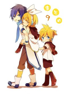 Read Rin - Len - Kaito from the story Ảnh Vocaloid by (Kagamine Rin) with 34 reads. Vocaloid Kaito, Kaito Shion, Kagamine Rin And Len, Anime Couples Manga, Cute Anime Couples, Manga Anime, Anime Art, Manga Girl, Anime Girls