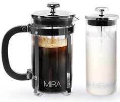 Mira French Press Coffee Maker with Milk Frother, 34 oz * Find out more details @ http://www.amazon.com/gp/product/B015WY87LM/?tag=lizloveshoes-20&pcd=150816232941
