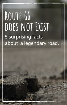 Route 66 is legendary - but it does not exist. What!? Find out more about 5 myths and a fascinating road (English and Deutsch): https://www.lonelyroadlover.com/route-66-usa-facts/