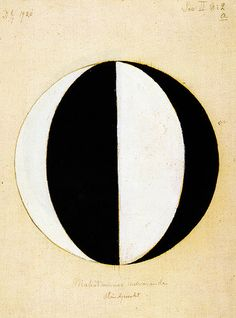 Hilma af Klint (1862–1944) was a Swedish artist and mystic whose paintings were amongst the first abstract art. She belonged to a group called 'The Five' and the paintings or diagrams were a visual representation of complex philosophical ideas.