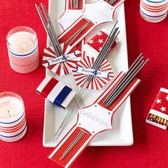 Party Favor: 4th of July Sparklers via @Better Homes and Gardens  #celebrate #IndependenceDay #FourthOfJuly