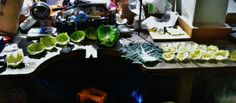 The jewellery workshop is a place for the weird and wonderful, not just jewellery! Cabbage leaves!  Image credit: Erica Punter