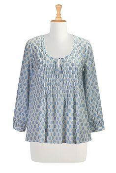 I <3 this Paisley print voile blouse from eShakti  -  shirt, top, light weight cotton.  want.        lj