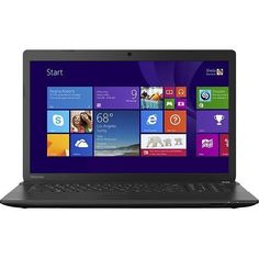 Toshiba Satellite C75D 17.3-Inch Laptop - AMD Quad-Core A8-6410 Processor, 6GB DDR3 RAM, 750GB Hard Drive, 17.3 Inch Backlit HD+ 1600x900 Display, DVD±RW/CD-RW, Webcam & Microphone, Windows 8.1 64-bit, Manufacture Refurbished - LED Backlit Display  Last longer, use less power, and warm up quicker with the unique LED backlit display.  Webcam  The built-in webcam on this PC makes it easy to Skype® and chat live with friends and family or videoconference with co-workers. Y