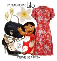 Lilo by leslieakay on Polyvore featuring polyvore fashion style Lily and Lionel Dorothy Perkins Chanel Jennifer Meyer Jewelry vintage clothing disney disneybound disneycharacter