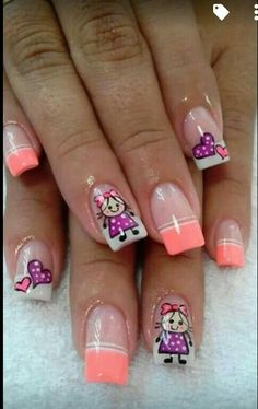 Love Creative Nail Designs, Short Nail Designs, Creative Nails, Crazy Nails, Love Nails, Pretty Nails, Neon Nails, Diy Nails, Spring Nails