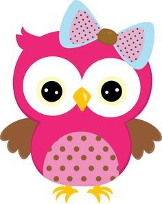 pink owl clipart - Google Search