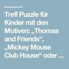 "Trefl Puzzle für Kinder mit den Motiven: ""Thomas and Friends"", ""Mickey Mouse Club House"" oder ""Rainbow Forest"""