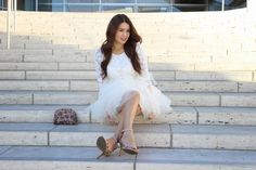 Roxy Limon, Los Angeles fashion blogger, petite fashion blogger, Walt Disney Concert Hall, cute birthday outfit, tulle skirt, mini skirt, Space 46