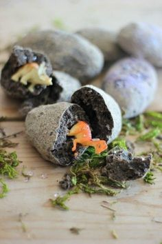 "Little ones love discovery, scavenger hunts, and crafts where getting messy is completely allowed. This fun outdoor craft for the kids was put together with those three things in mind. These DIY ""Dinosaur Eggs"" inspire learning and initiate fun – the perfect summer afternoon craft. We created this craft with your little archaeologist in mind,…"