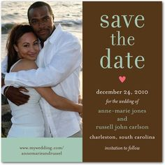 Save the date in chocolate