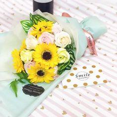 custom order. #flowers #flowerbouquet #soapflower #sunflower #roses #soapflowers #soapflowerbouquet #bloomingmomentflorist Order Flowers, Birthday Gifts, Roses, Bloom, Soap, Table Decorations, Instagram, Birthday Presents, Pink