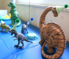 "Simple and awesome dinosaur party ideas for kids. These ""dinomite"" ideas are sure to be a crowd pleaser. Includes party invites, food ideas, games, and more"