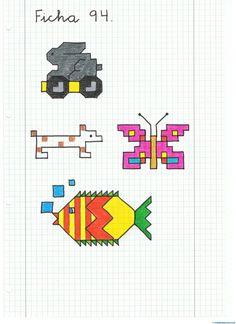 Blackwork, Symmetry Worksheets, Graph Paper Art, Mat Online, Aztec Art, Learn To Draw, Cross Stitching, Kids Learning, Pixel Art