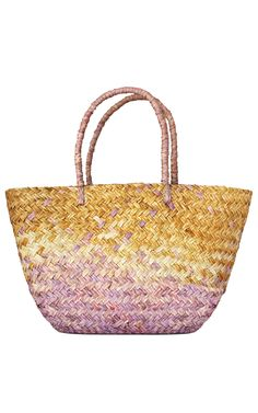 Purple Ombre Straw Tote by KAYU for Preorder on Moda Operandi