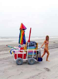 Beach It Pvc Beach Carts 187 4 Wheel Big Boy Cart Beach