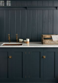 Shaker style kitchen in grey | deVOL Kitchens