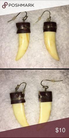 Shark Tooth Earrings A lovely pair of earrings shaped like a sharks tooth. Jewelry Earrings