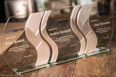 Награда из стекла и алюминия Triple S - nagrada.ua™