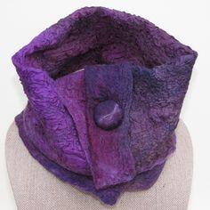 Nuno felted neck warmer, wrap, lavish. http://etsy.com/shop/AlfalfaHill