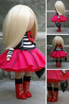 Fabric doll Handmade doll Textile doll Soft от AnnKirillartPlace