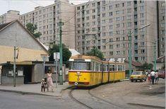 Miskolc-Diósgyőr villamos végállomás Socialism, Old Pictures, Czech Republic, Historical Photos, The Past, Street View, Explore, History, City