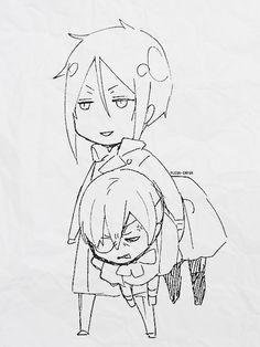 • mine edit manga kuroshitsuji ciel phantomhive sebastian michaelis black butler sketches yana toboso Finnian finny fleur-impur naiviteit •