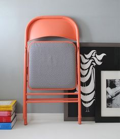 reciclar sillas plegables con pintura y retales