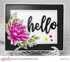 Hi I am here with a post for this Stunning add on Stamp and Die Flower Stand Strong from the Uniquely Creative Stamp & Colour. Color Kit, Colour, April Challenge, Sweet Magnolia, Stand Strong, Flower Stands, Handmade Tags, Pearl And Lace, Valentine Day Love