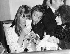 Juliette Greco, Jane Birkin, Serge Gainbourg