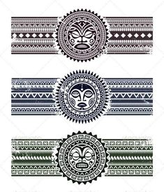 Polynesian Armband Tattoos Set