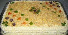 Torta Fria De Pão De Forma Com Frango