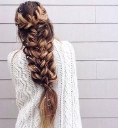 multiple three-strand braids, mermaid