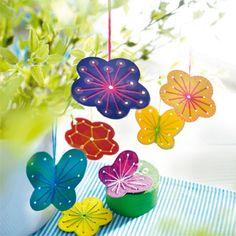 Sachenmacher Fädelinge Frühling JAKO-O, Bastelset für 40 Stück - Blumen und Schmetterlinge zum Ausmalen und Aussticken ♥ sorgfältig ausgewählt ♥ Jetzt online bestellen!