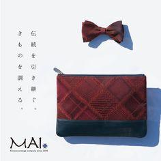MAIkimonoクラッチバッグシリーズ C-red