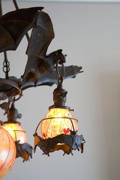 bat chandeli, light fittings, bat lamp