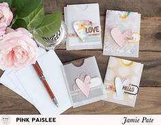 Heart Card Pocket Set | @jamiepate for @pinkpaislee