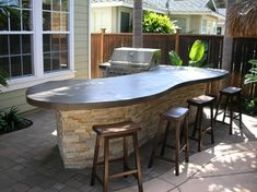 Patio idea - grill and countertop.