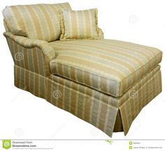 Chaise Lounge Over White Stock Images - Image: 14620004