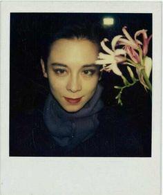 The exquisite Tina Chow - Polaroid by Tony Viramontes