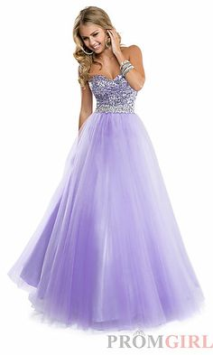 Strapless Sweetheart Ball Gown by Flirt at PromGirl.com