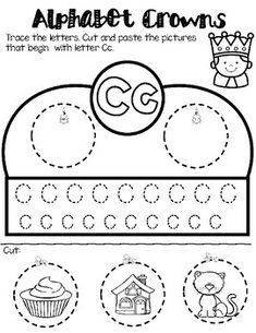 Students love making crowns for any occasion.One crown for leach letter. Alphabet Phonics, Alphabet Games, Alphabet Crafts, Phonics Activities, Letter A Crafts, Educational Activities, Spanish Activities, Alphabet Letters, Handwriting Worksheets