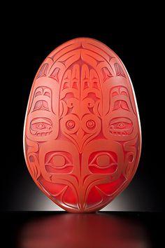 Preston Singletary (b. 1963 in San Francisco, California, U.S.) is a Native American glass artist. Movement :Northwest Coast art