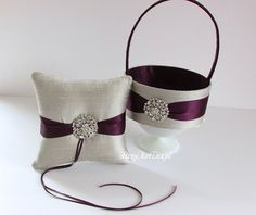 Custom Flower Girl Basket and Wedding Ring by LaceyClaireDesigns, $89.00