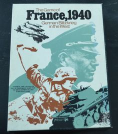 Avalon Hill The Game of France, 1940 German Blitzkrieg in the West unpunched #AvalonHill