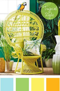 Are you sitting comfortably? What's not to love about this bold and beautiful outdoor seat!